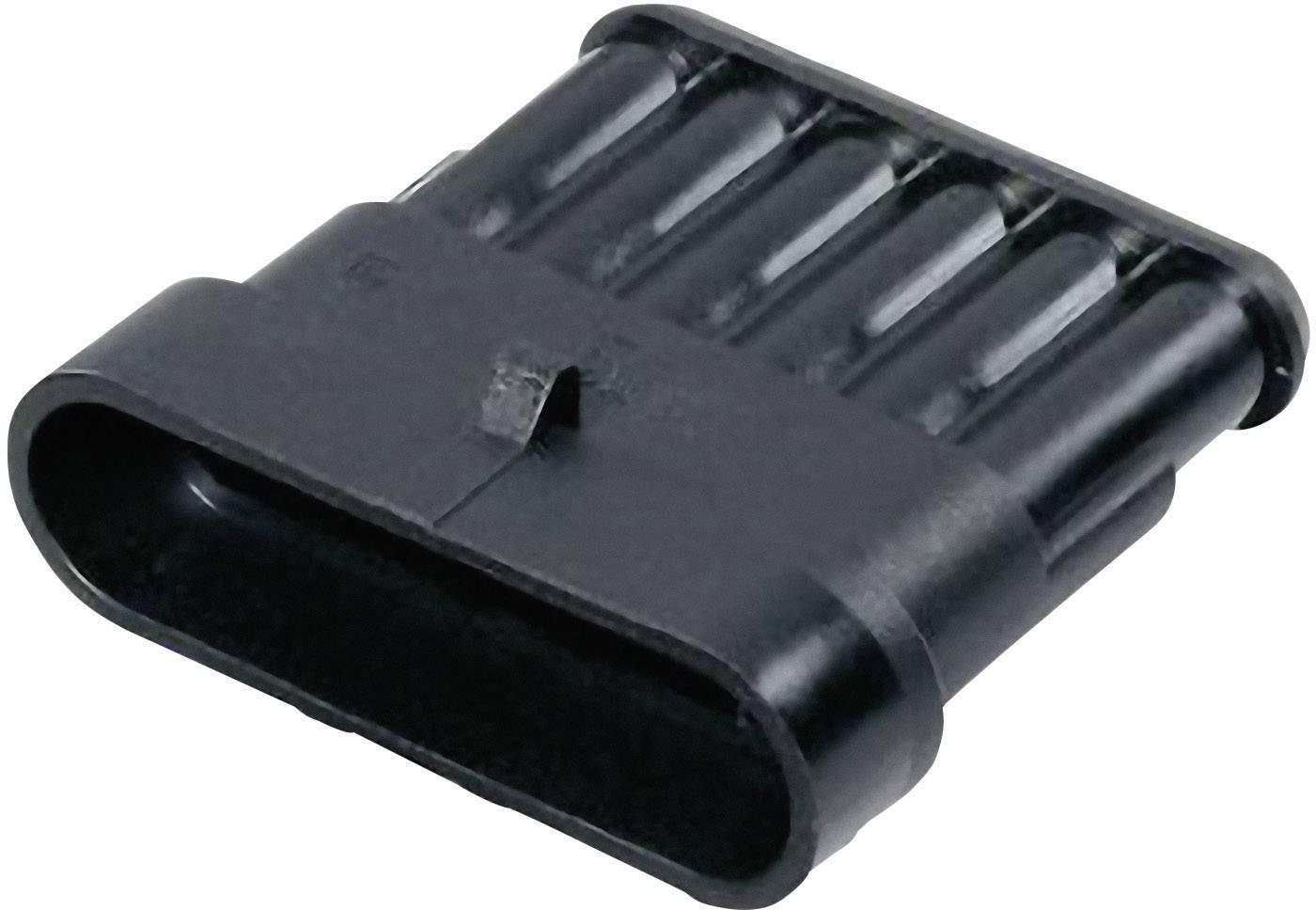 Zástrčkové puzdro na kábel TE Connectivity 282108-1, počet pólov 6, raster 6 mm, 1 ks