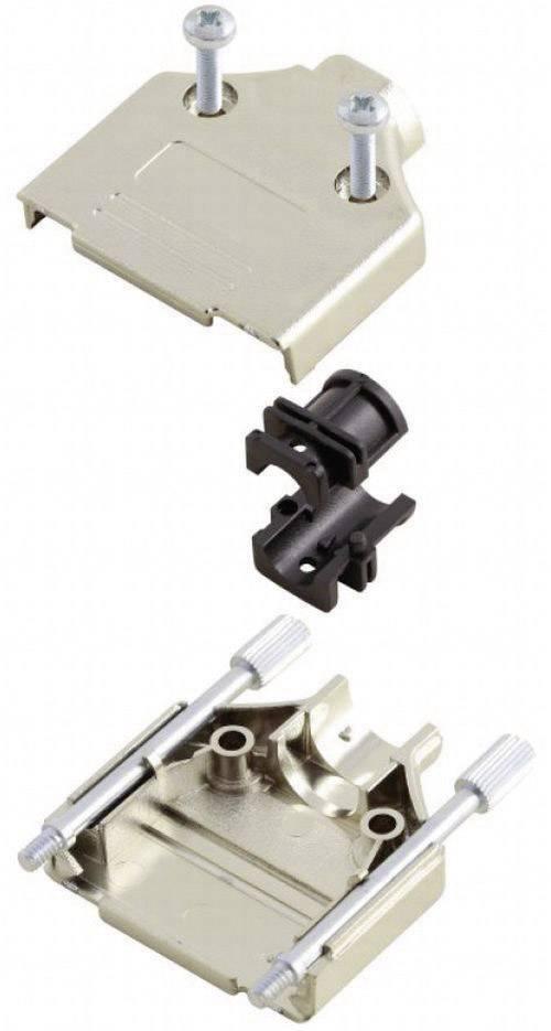 D-SUB pouzdro MH Connectors MHDTPK-15-K 6560-0145-02, Pólů: 15, plast, pokovený, 180 °, stříbrná, 1 ks