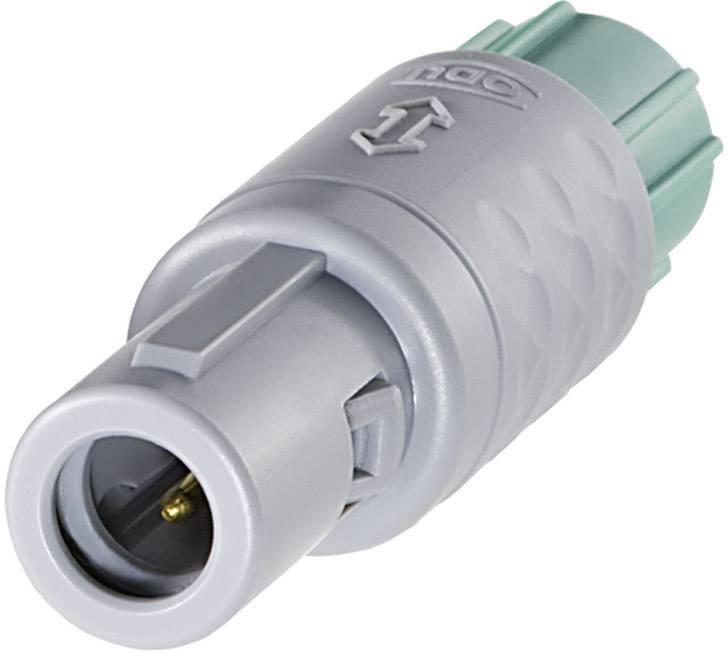 Kulatý konektor MEDI-SNAP ODU S11M07-P08MFD0-0000, zástrčka rovná, 8pól., (Ø) 14 mm