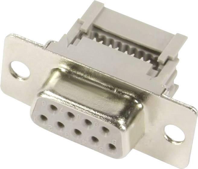 D-SUB zásuvková lišta Harting 09 66 118 7500, 180 °, Počet pinov 9, IDC, 1 ks
