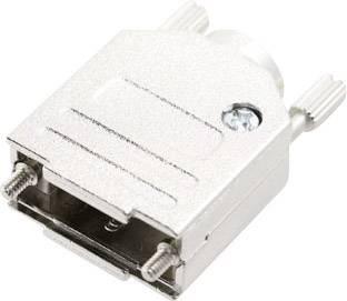 D-SUB púzdro MH Connectors MHDTZK-N-25-RA-K 6560-0105-03, počet pinov: 25, kov, 180 °, strieborná, 1 ks