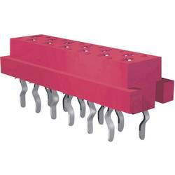 Zásuvkové puzdro na dosku TE Connectivity 7-0215079-6 7-215079-6, 9.7 mm, pólů 6, rozteč 1.27 mm, 1 ks