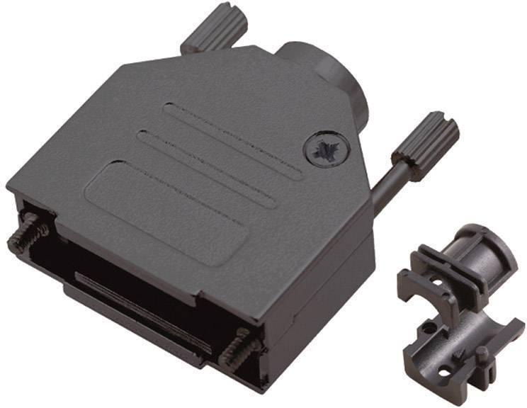 D-SUB púzdro MH Connectors MHDTZK-9-RA-BK-K 6560-0115-01, počet pinov: 9, kov, 180 °, čierna, 1 ks