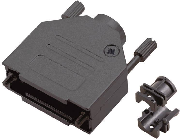 D-SUB pouzdro MH Connectors MHDTZK-9-RA-BK-K 6560-0115-01, pólů 9, kov, 180 °, černá, 1 ks