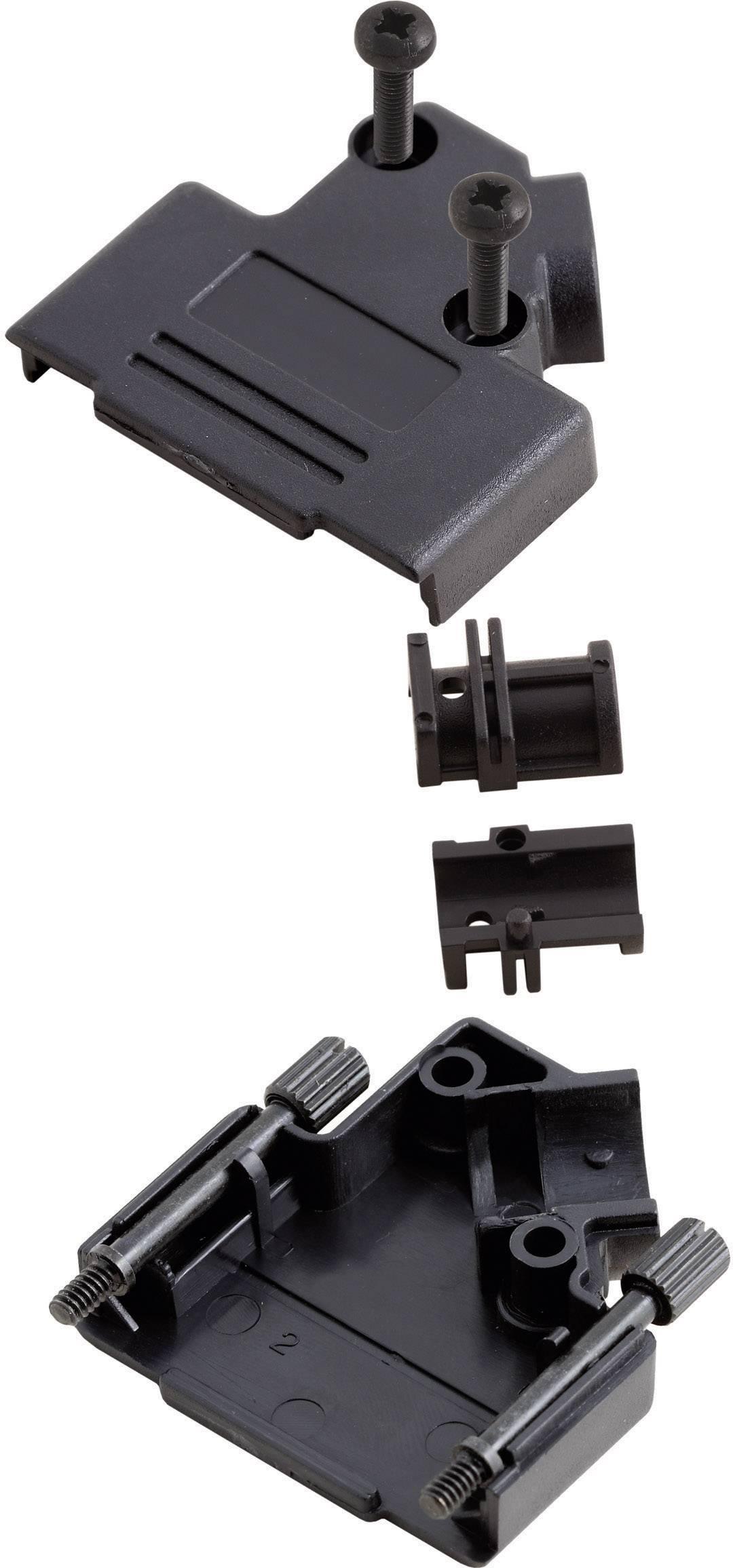 D-SUB púzdro MH Connectors MHD45PPK-09-BK-K 6560-0107-11, Počet pinov: 9, plast, 45 °, čierna, 1 ks