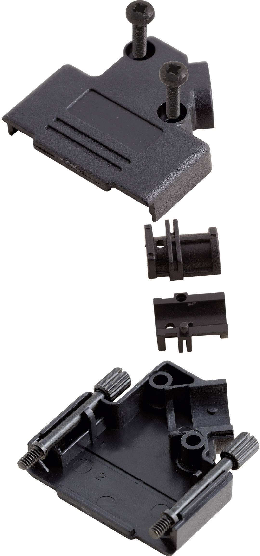 D-SUB púzdro MH Connectors MHD45PPK-15-BK-K 6560-0107-12, počet pinov: 15, plast, 45 °, čierna, 1 ks
