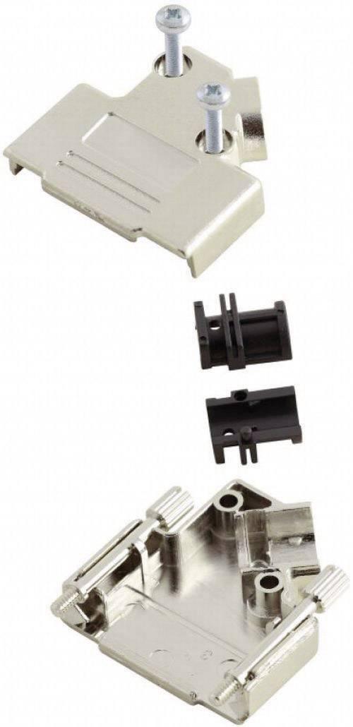D-SUB púzdro MH Connectors MHD45PK-9-K 6560-0146-11, Počet pinov: 9, plast, pokovaný, 45 °, strieborná, 1 ks