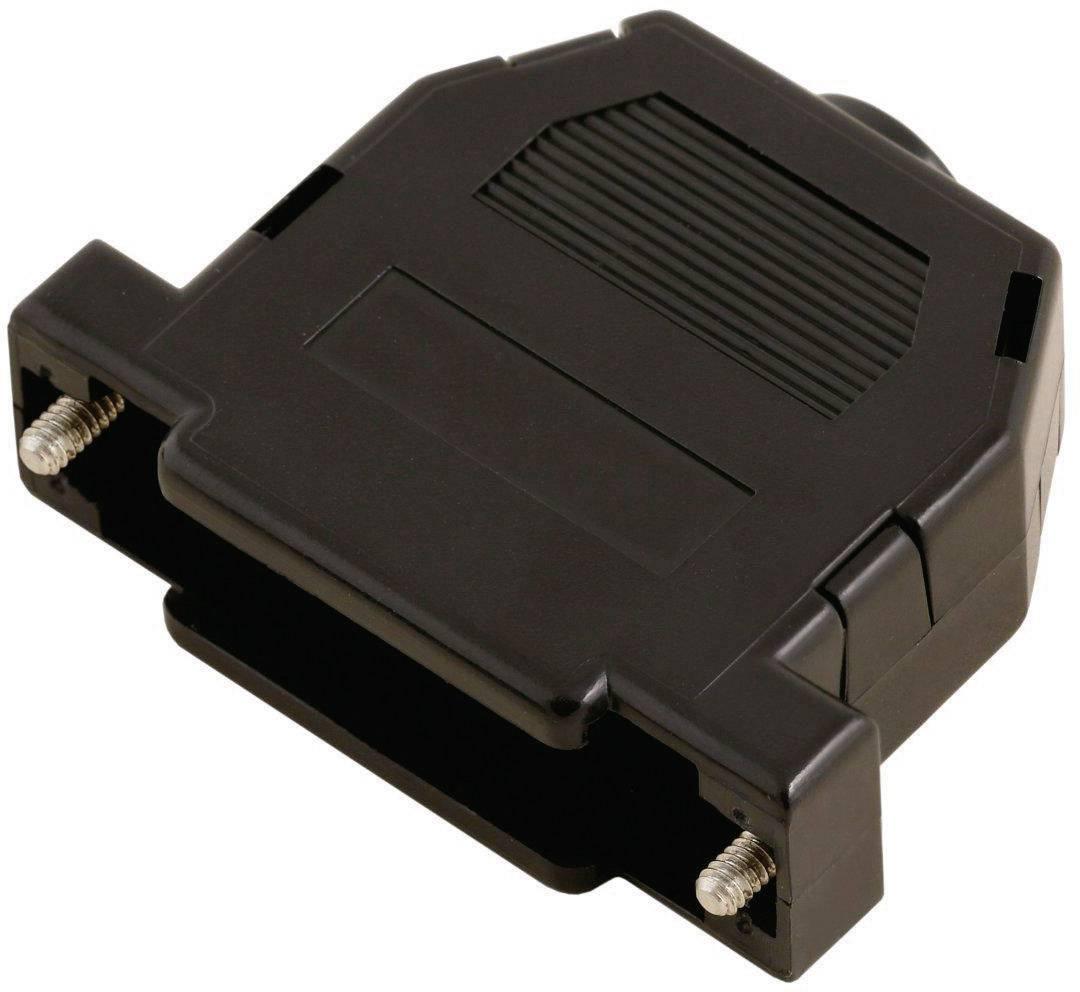 D-SUB púzdro MH Connectors 2360-0101-01 2360-0101-01, počet pinov: 9, plast, 180 °, čierna, 1 ks