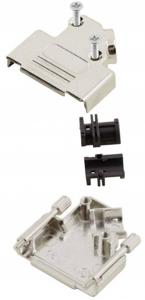D-SUB púzdro MH Connectors MHD45ZK-15-RA-K 6560-0106-12, počet pinov: 15, kov, 45 °, strieborná, 1 ks