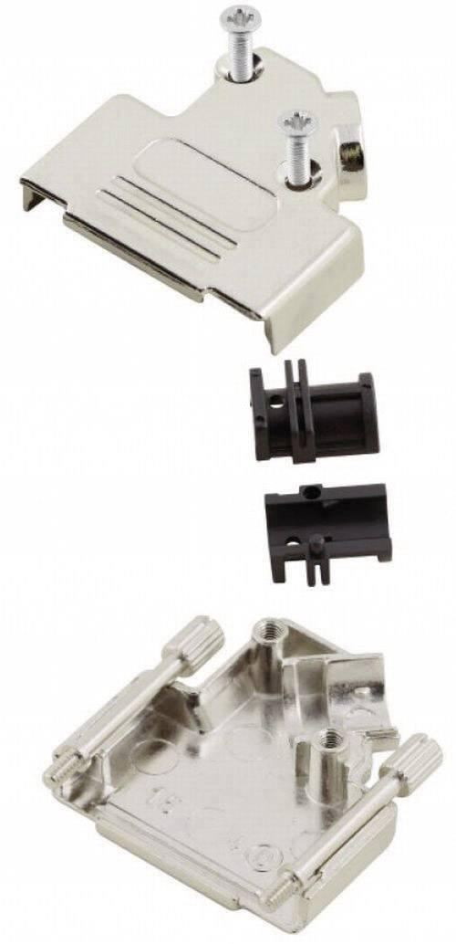 D-SUB pouzdro MH Connectors MHD45ZK-25-RA-K, Pólů: 25, kov, 45 °, stříbrná, 1 ks