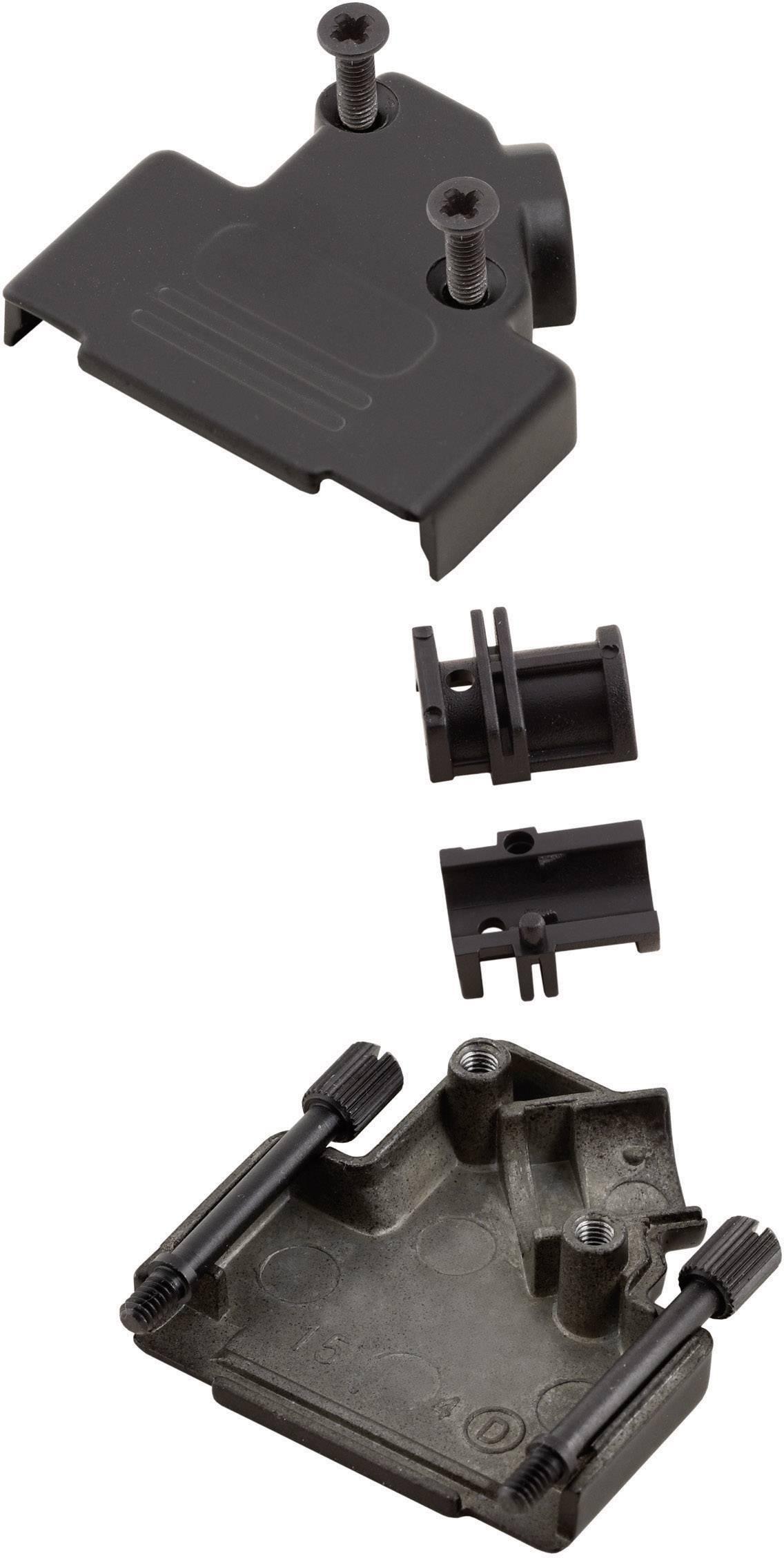 D-SUB púzdro MH Connectors MHD45ZK-15-BK-K 6560-0116-12, Počet pinov: 15, kov, 45 °, čierna, 1 ks