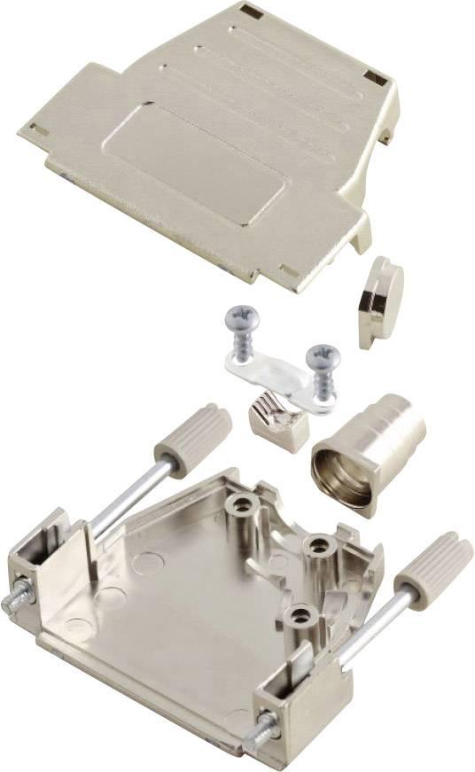 D-SUB púzdro MH Connectors MHDSSK-M-25-L-K 6260-0106-03, počet pinov: 25, plast, pokovaný, 180 °, 45 °, strieborná, 1 ks