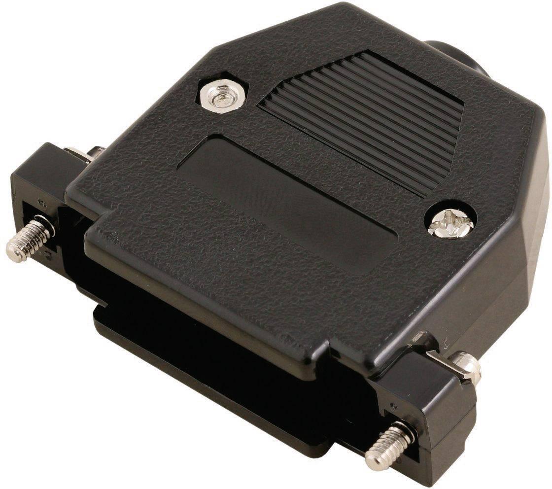 D-SUB púzdro MH Connectors 2360-0102-01 2360-0102-01, Počet pinov: 9, plast, 180 °, čierna, 1 ks