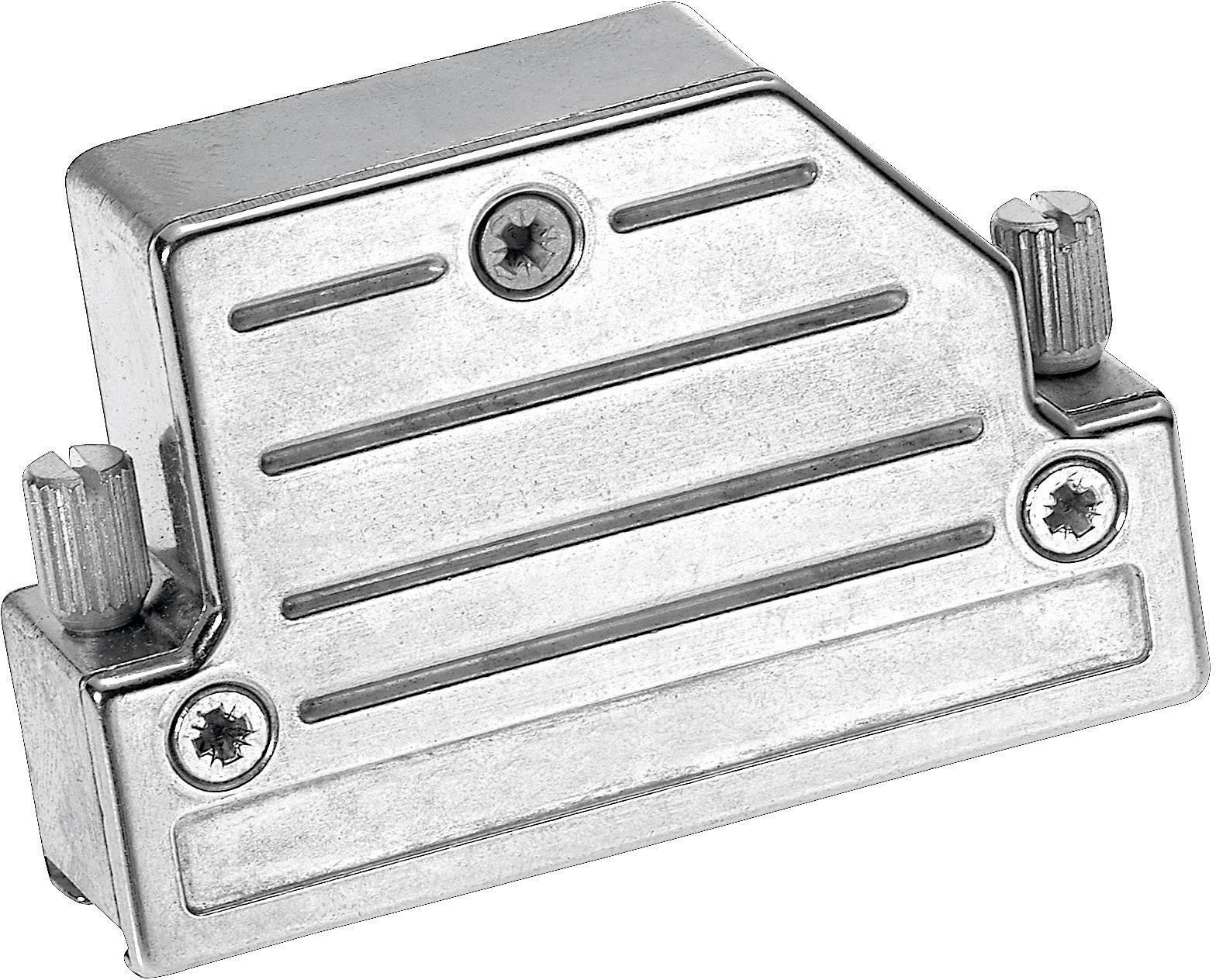 D-SUB pouzdro Provertha 4715DC25001 4715DC25001, Pólů: 15, kov, 45 °, stříbrná, 1 ks