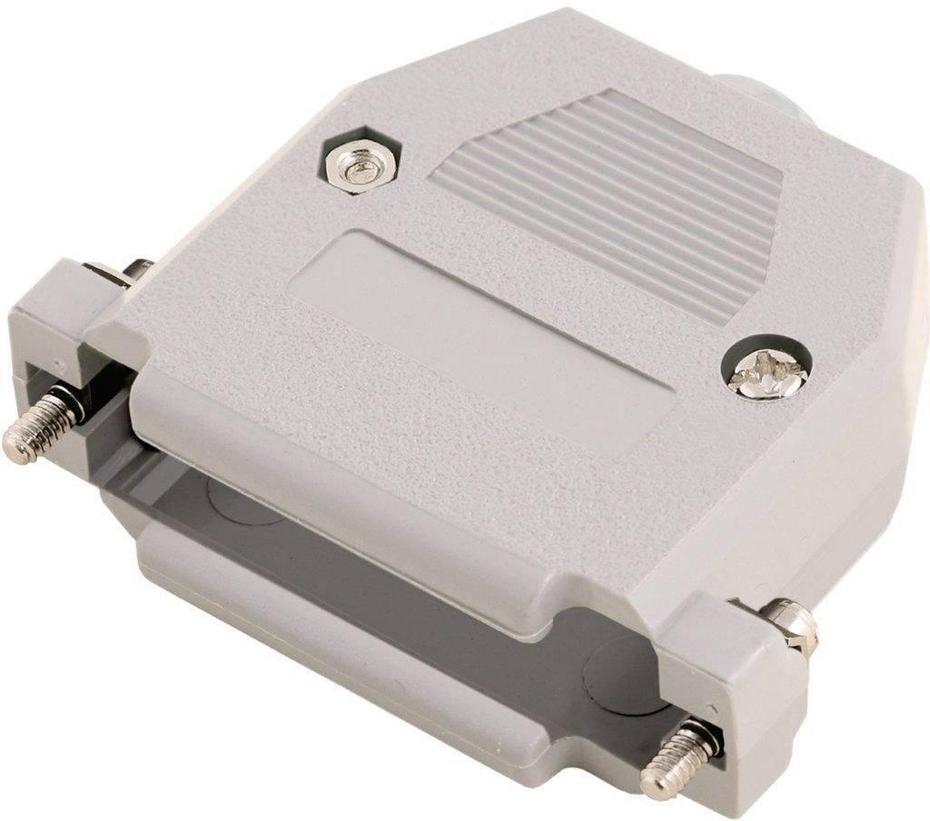 D-SUB pouzdro MH Connectors 2360-0102-11 2360-0102-11, pólů 9, plast, 180 °, šedá, 1 ks