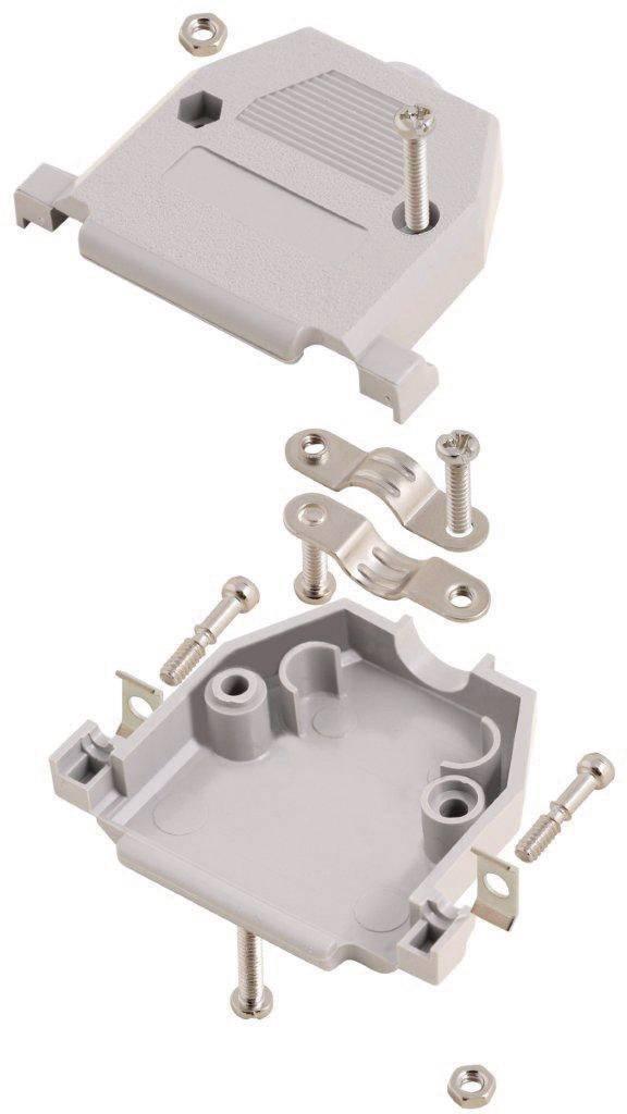 D-SUB pouzdro MH Connectors 2360-0102-11 2360-0102-11, Pólů: 9, plast, 180 °, šedá, 1 ks