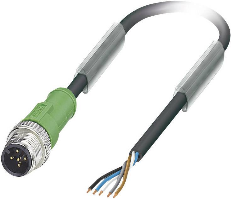 Upravený zástrčkový konektor pre senzory - aktory Phoenix Contact SAC-5P-M12MS/5,0-PUR 1669783, 1 ks