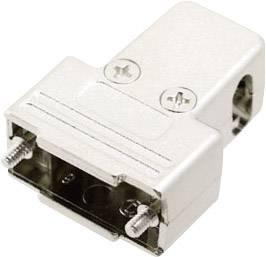 D-SUB púzdro MH Connectors MHTRI-M-09-K 6550-0100-01, Počet pinov: 9, plast, pokovaný, 180 °, 45 °, 45 °, strieborná, 1 ks