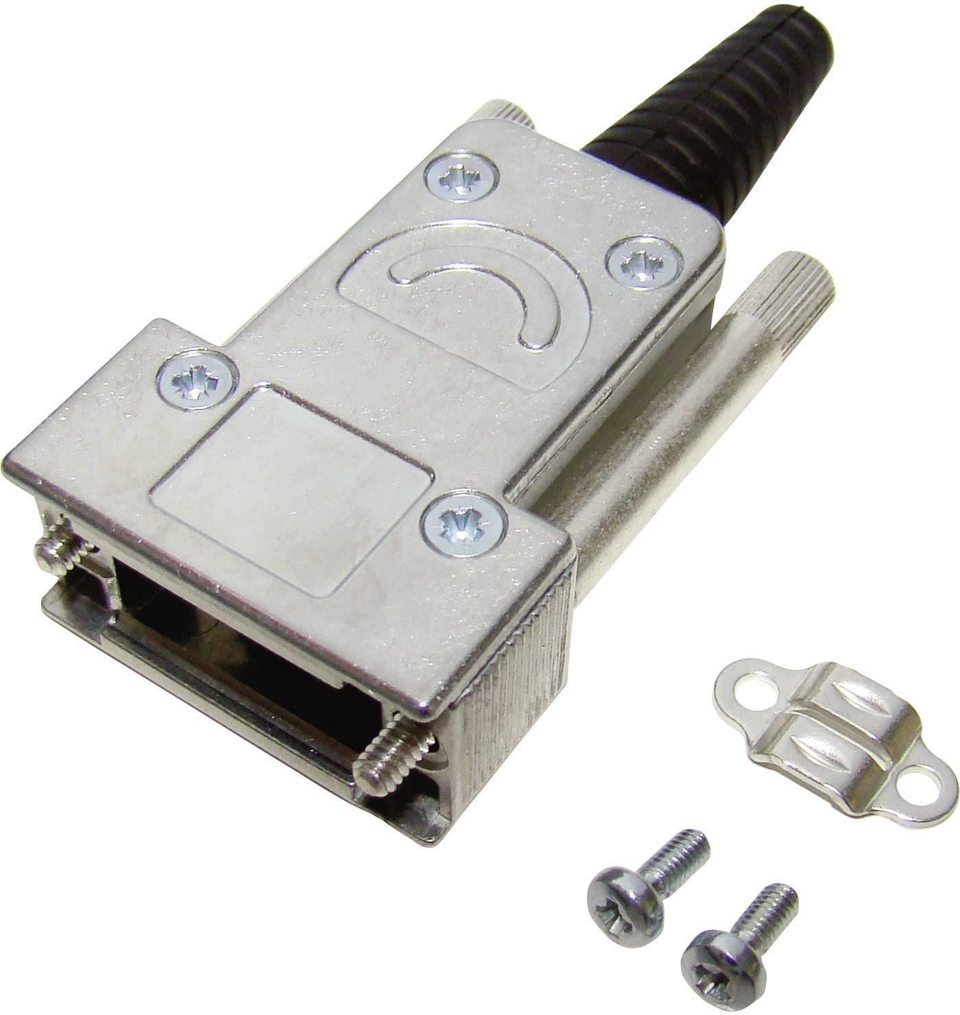 D-SUB pouzdro Provertha 117092DC50101 117092DC50101, Pólů: 9, kov, 180 °, stříbrná, 1 ks