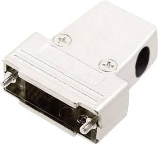 D-SUB púzdro MH Connectors MHTRI-M-15-K 6550-0100-02, Počet pinov: 15, plast, pokovaný, 180 °, 45 °, 45 °, strieborná, 1 ks