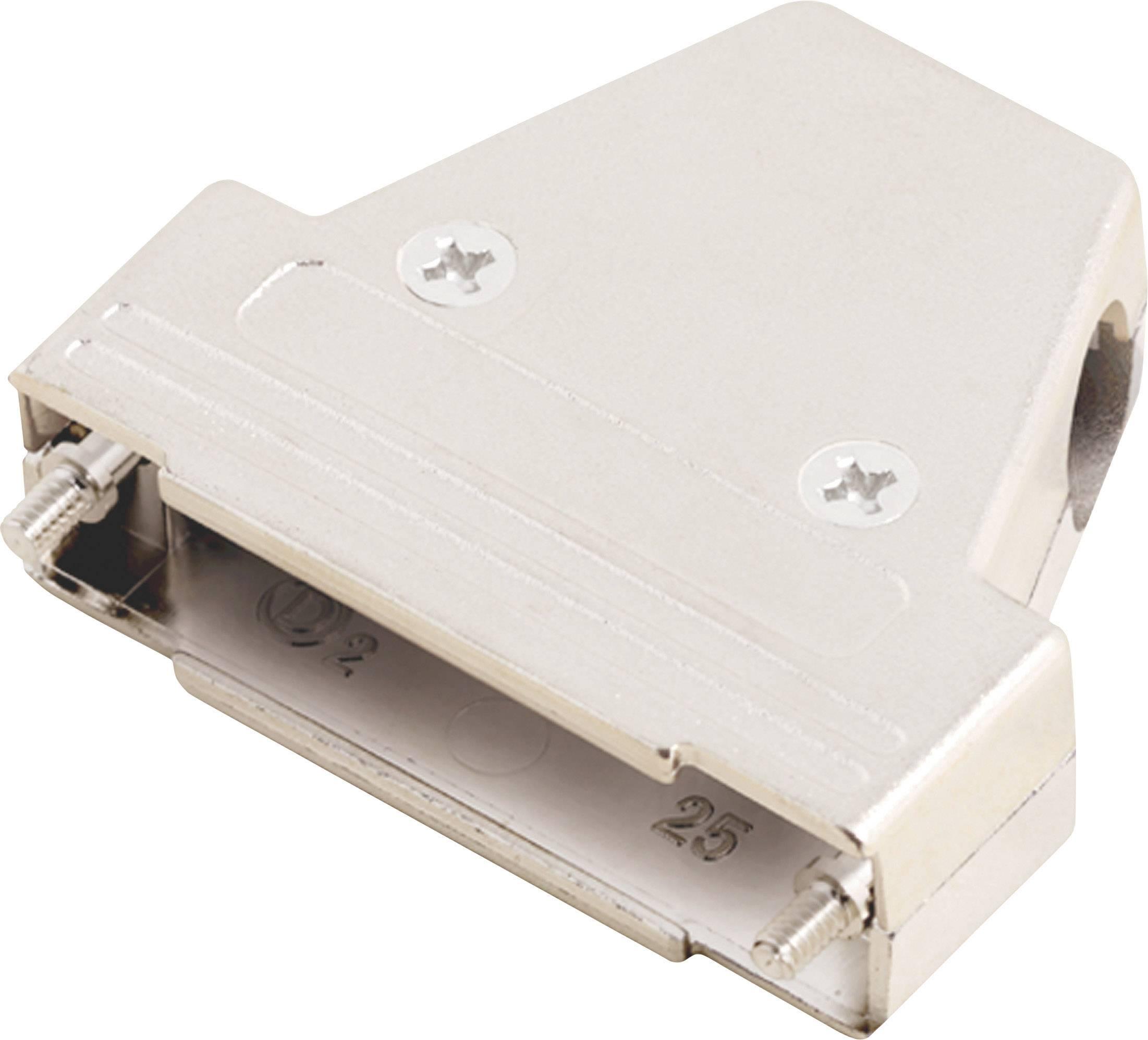 D-SUB púzdro MH Connectors MHTRI-M-25-K 6550-0100-03, počet pinov: 25, plast, pokovaný, 180 °, 45 °, 45 °, strieborná, 1 ks