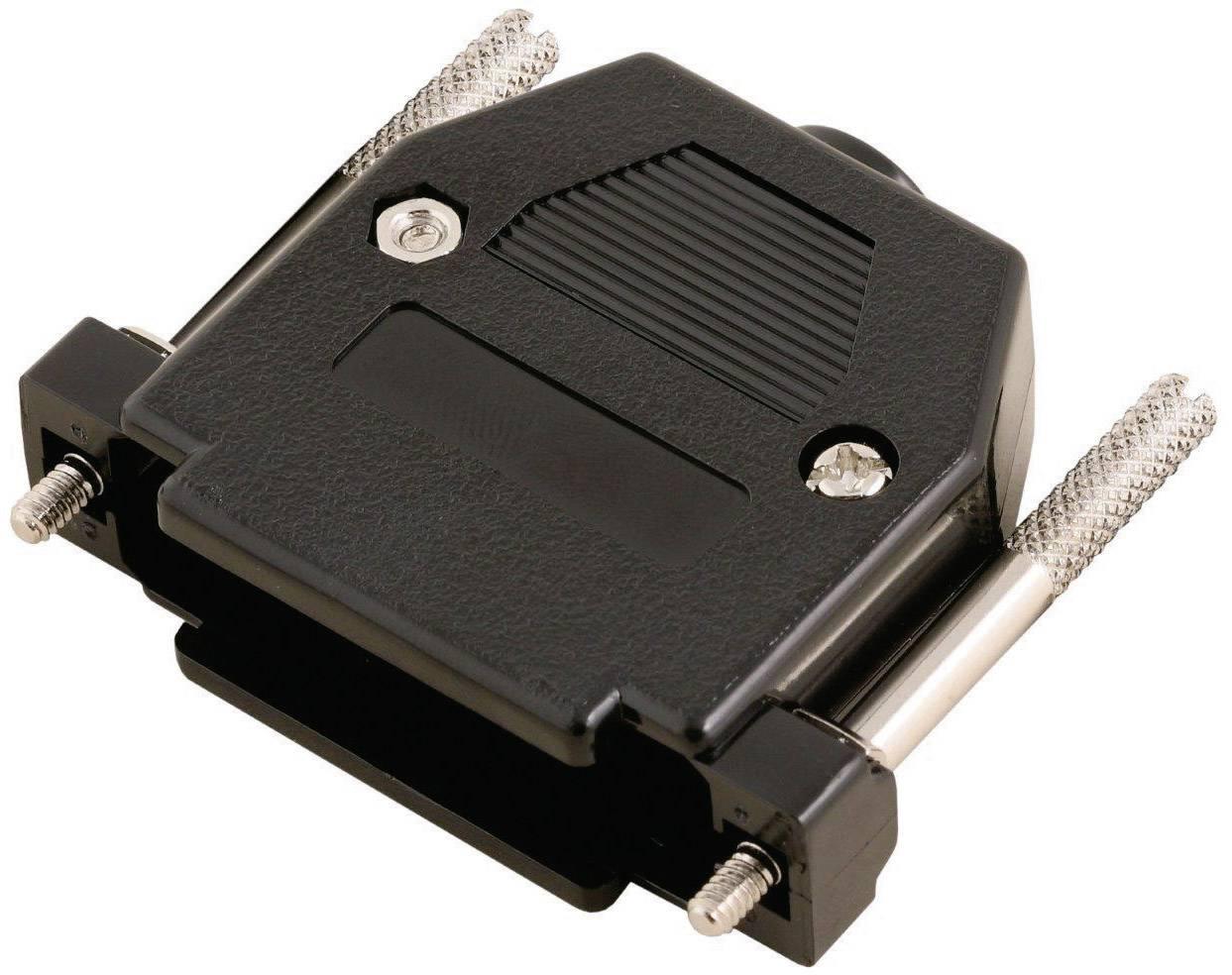D-SUB púzdro MH Connectors 2360-0102-23 2360-0102-23, počet pinov: 25, plast, 180 °, čierna, 1 ks