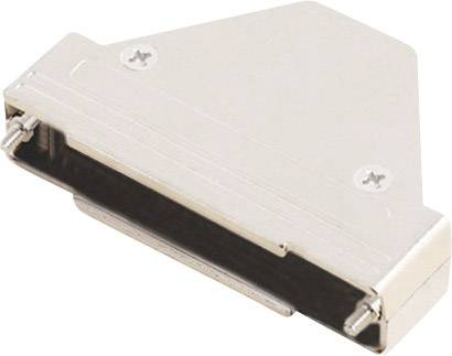 D-SUB púzdro MH Connectors MHTRI-M-37-K 6550-0100-04, počet pinov: 37, plast, pokovaný, 180 °, 45 °, 45 °, strieborná, 1 ks