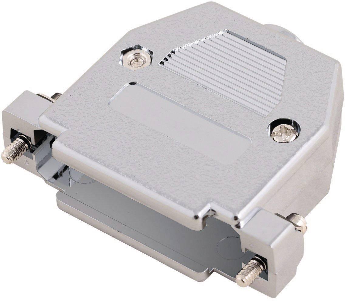 D-SUB pouzdro MH Connectors 2360-0105-03 2360-0105-03, pólů 25, plast, pokovený, 180 °, stříbrná, 1 ks