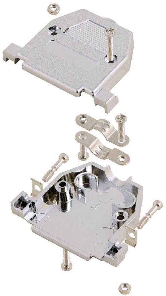 D-SUB pouzdro MH Connectors 2360-0105-02 2360-0105-02, Pólů: 15, plast, pokovený, 180 °, stříbrná, 1 ks