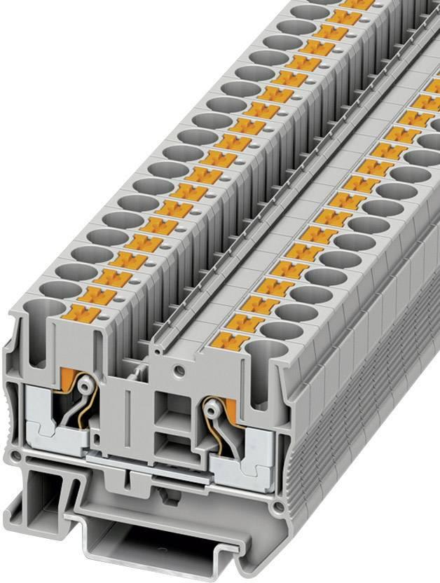 Svorka Push-in průchodová Phoenix Contact PT 6 (3211813), 8,2 mm, šedá