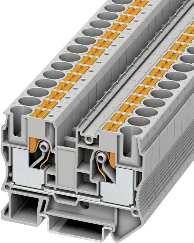 Svorka Push-in průchodová Phoenix Contact PT 10 (3212120), 10,2 mm, šedá