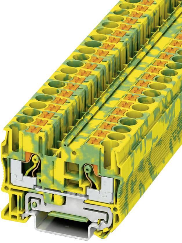 Svorka Push-in Phoenix Contact PT 6-PE (3211822), s ochranným vodičem, 8,2 mm, zel/žlut