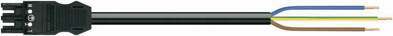 Sieťový pripojovací kábel sieťová zásuvka - kábel, otvorený koniec počet kontaktov: 2 + PE, čierna, 1 ks