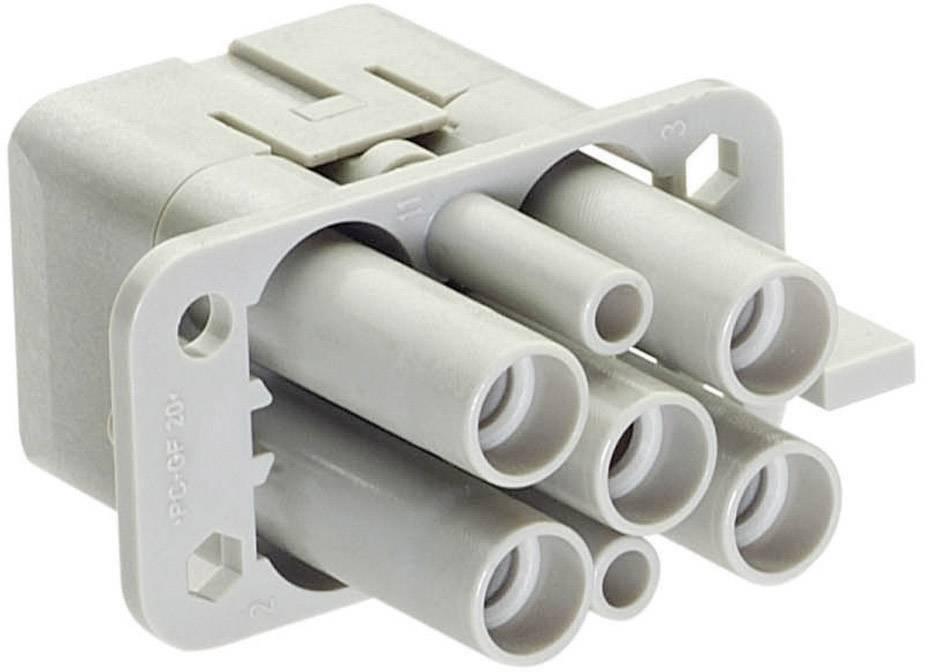 Konektorová vložka, zásuvka Han® Q 09 12 006 3141 Harting 4 + 2 + PE, krimpované připojení, 1 ks