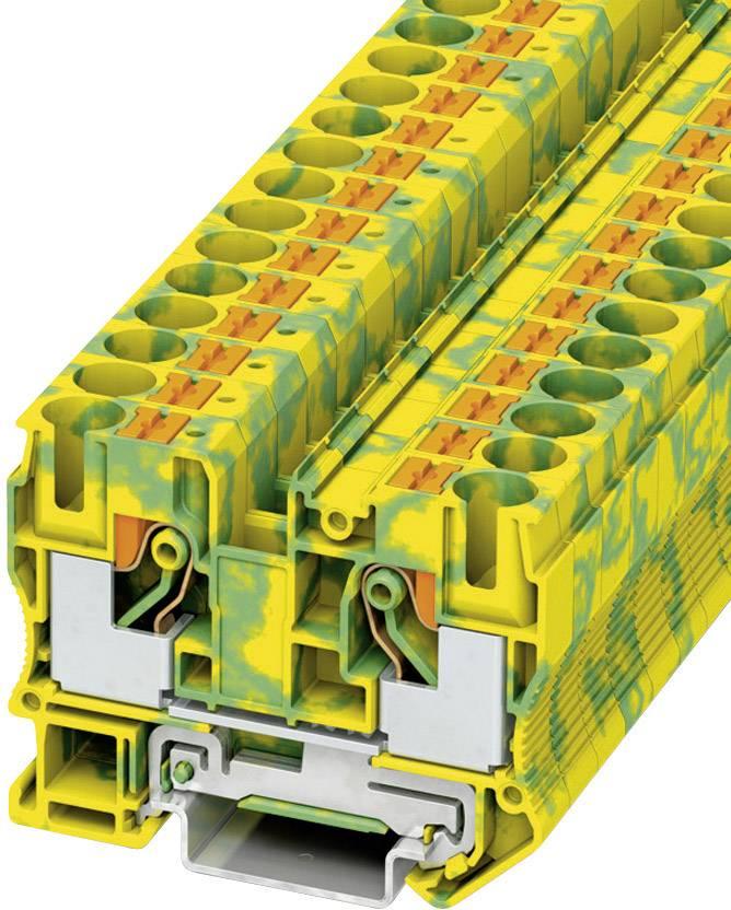 Svorka Push-in Phoenix Contact PT 10-PE (3212131), s ochranným vodičem, 10,2 mm, zel/žlut