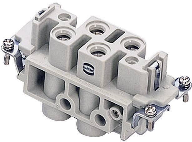 Konektorová vložka, zásuvka Harting Han® Com 09 38 006 2701, 4 + 2 + PE, šroubovací připojení, 1 ks