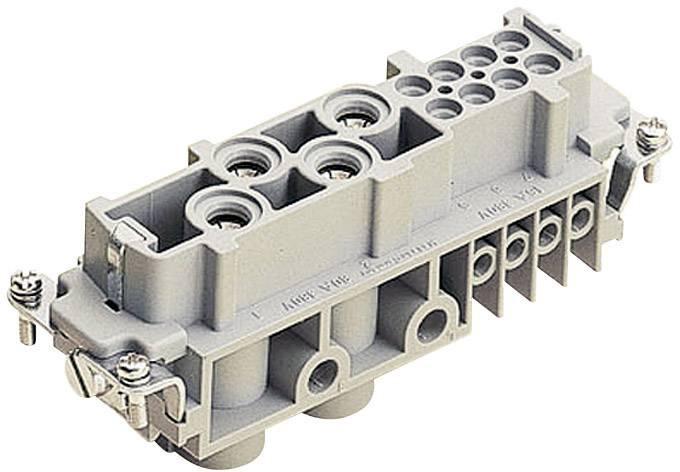 Konektorová vložka, zásuvka Harting Han® Com 09 38 012 2701, 4 + 8 + PE, šroubovací připojení, 1 ks