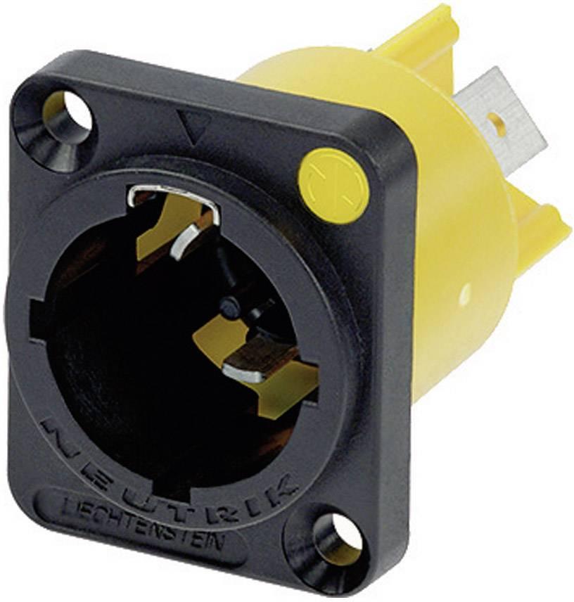 Sieťový konektor Neutrik NAC3MPX, zástrčka, vstaviteľná vertikálna, počet kontaktov: 2 + PE, 16 A, 250 V/AC, čierna, 1 ks