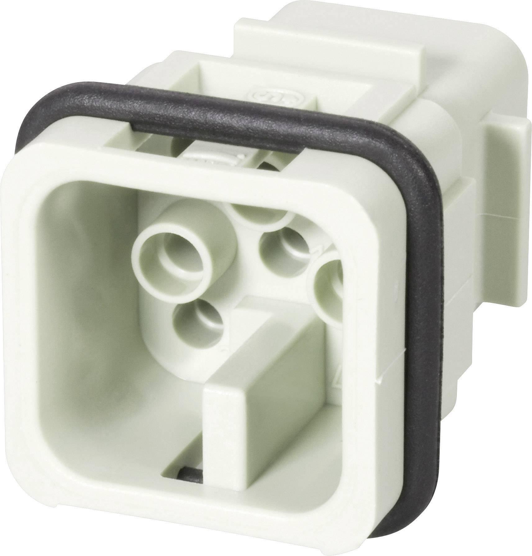 Vložka pinového konektoru Harting Han® D 09 21 007 3031, 7 + PE, krimpované připojení, 1 ks