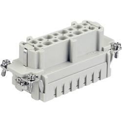 Súprava konektorovej zásuvky Harting Han® E 09 33 016 2712, 16 + PE, krimpované , 1 ks