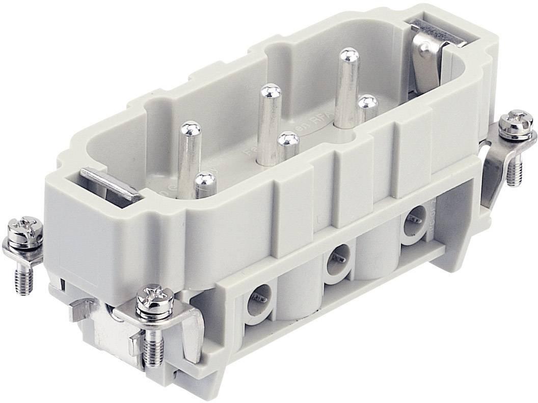 Vložka pinového konektoru Harting Han® HsB 09 31 006 2611, 6 + PE, šroubovací připojení, 1 ks