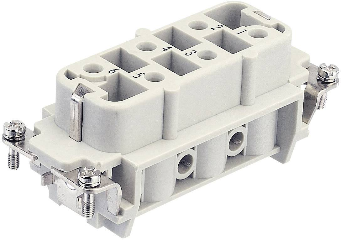Konektorová vložka, zásuvka Harting Han® HsB 09 31 006 2711, 6 + PE, šroubovací připojení, 1 ks