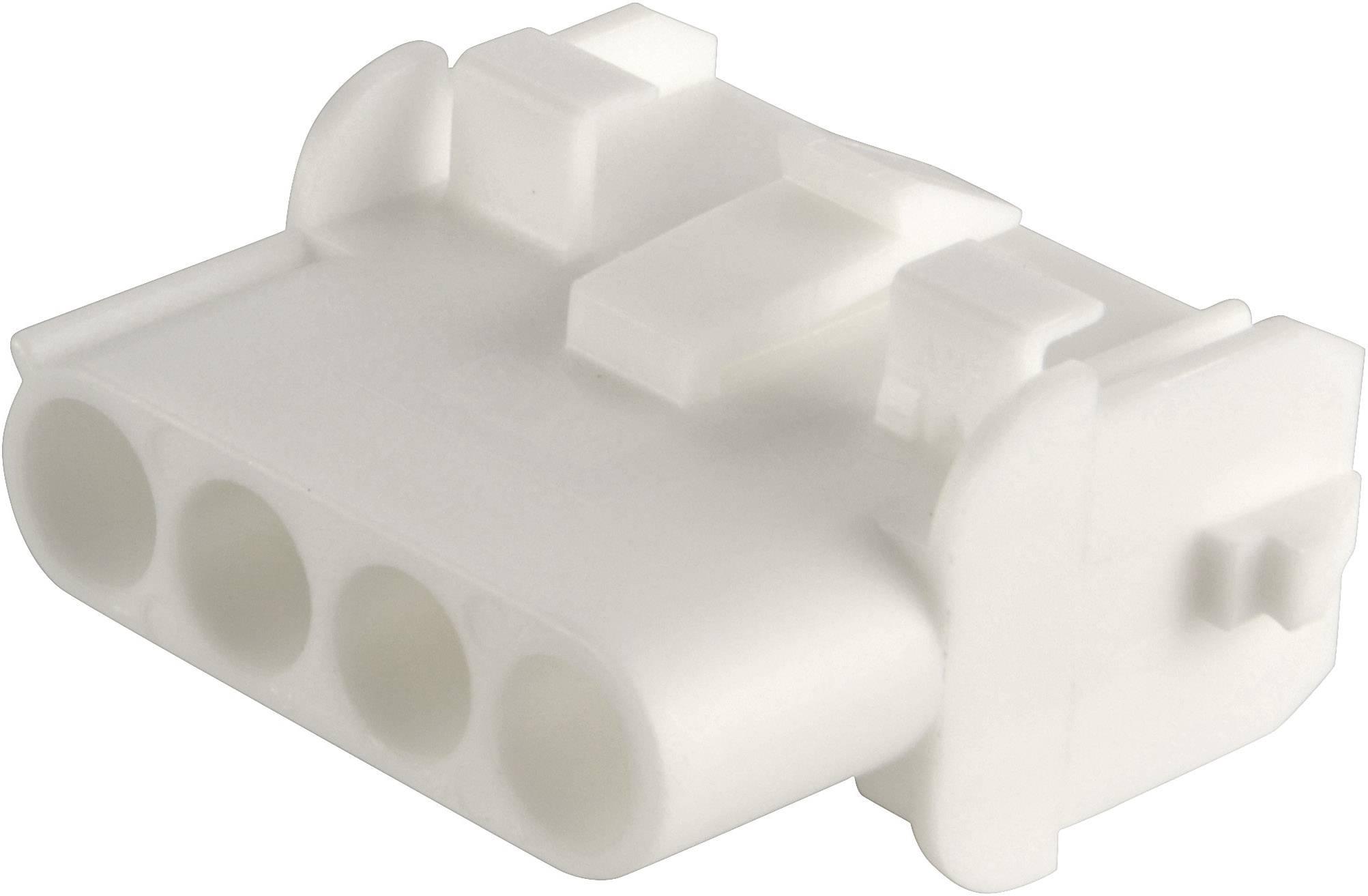 Zásuvkové púzdro na kábel TE Connectivity 350767-1, počet pólov 3, raster 6.35 mm, 1 ks