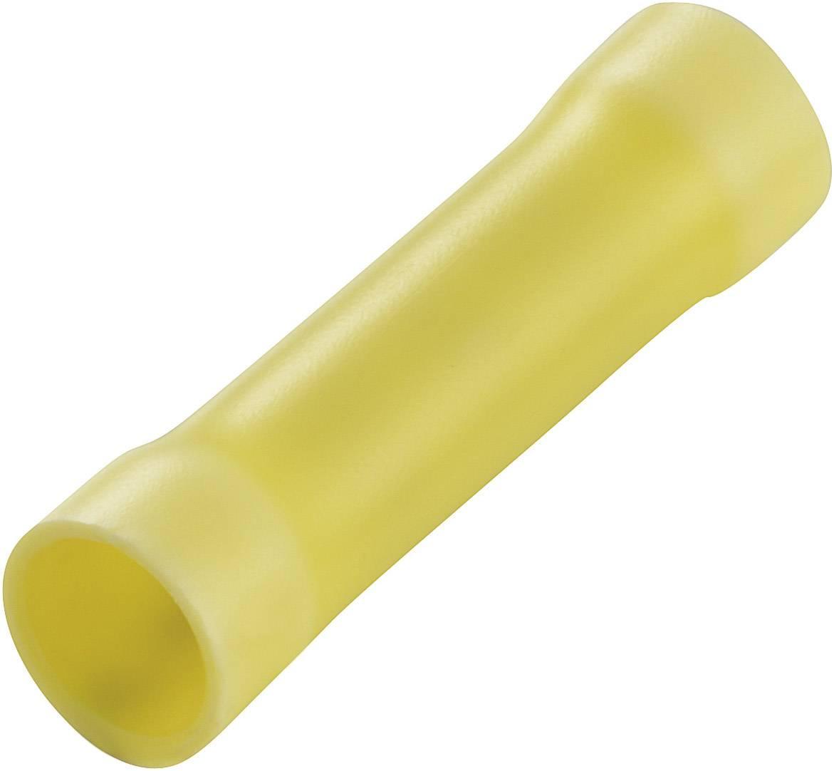 Krimpovacia spojka TE Connectivity 34072, 2.602 mm² (min), úplne izolované, žltá, 1 ks
