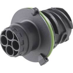 Kruhový konektor podľa DIN 72585, 3 až 7 pólov, teleso kolíkov a zásuviek guľatý faston TE Connectivity 1-967402-2 IP69/IP69K, pólů 3, 1 ks