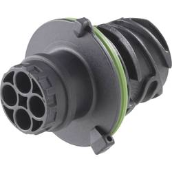 Kruhový konektor podľa DIN 72585, 3 až 7 pólov, teleso kolíkov a zásuviek guľatý faston TE Connectivity 1718230-1 IP69/IP69K, pólů 7, 1 ks