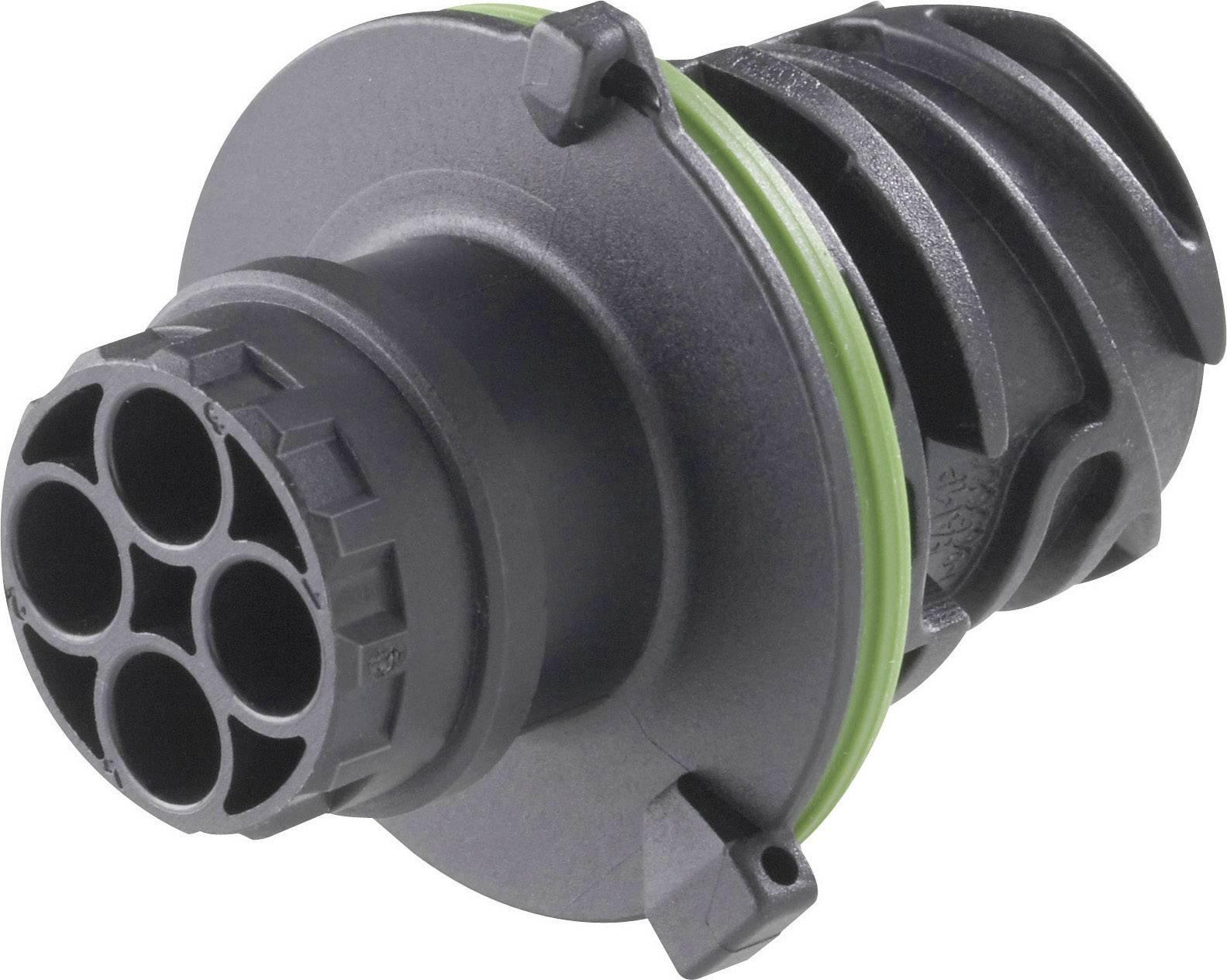 Kulatá propojka TE Connectivity AMP DIN 72585 (1-967402-3), zástrčka rovná, IP69/IP69K