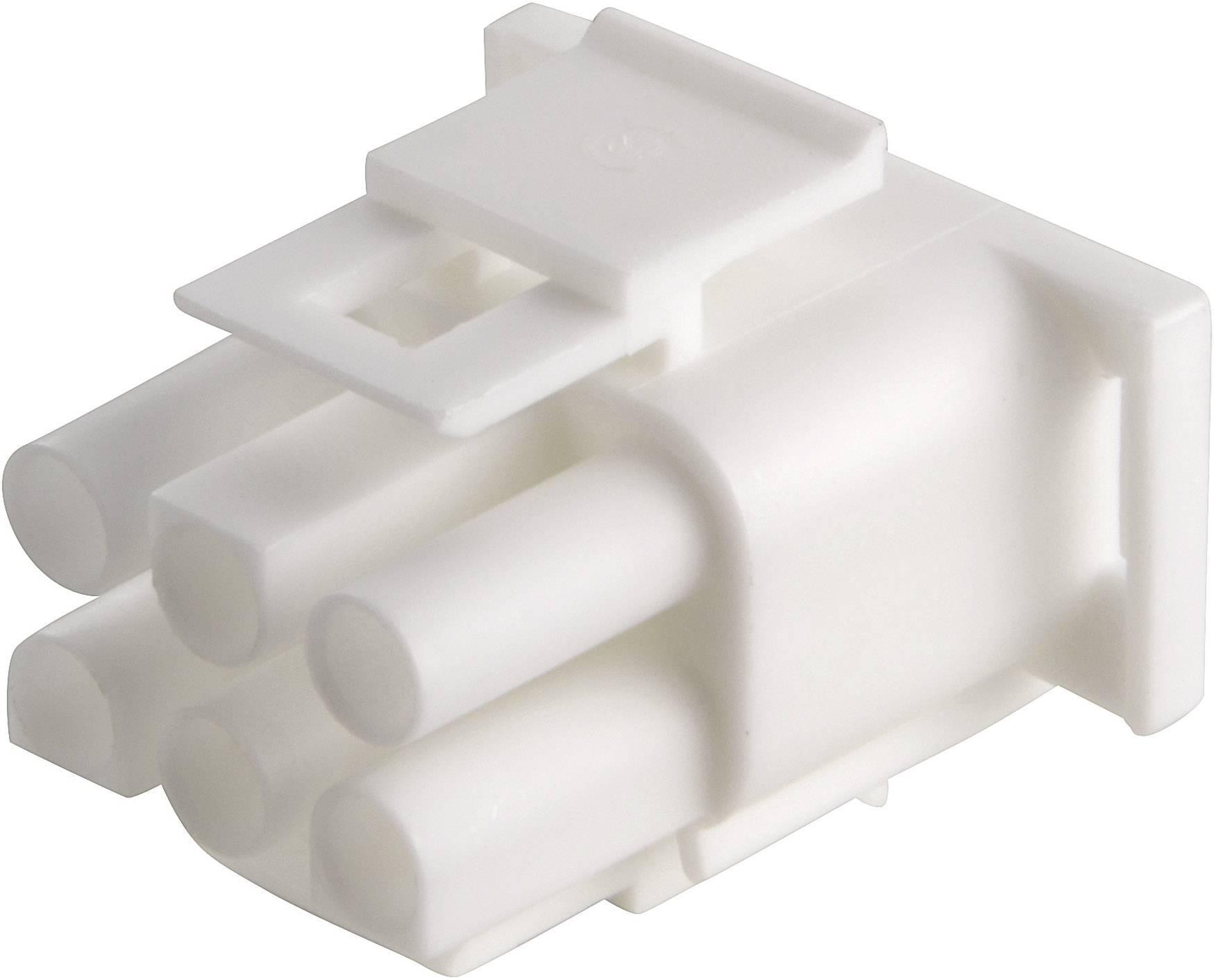 Zástrčkové puzdro na kábel TE Connectivity 350715-4, počet pólov 6, raster 6.35 mm, 1 ks