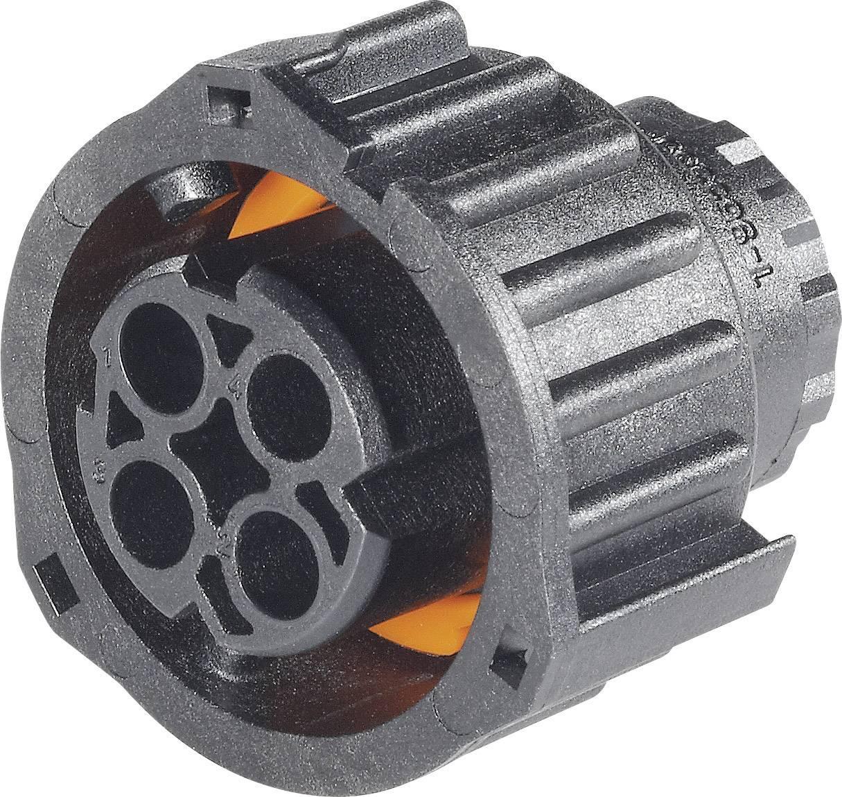 Kulatá propojka TE Connectivity AMP DIN 72585 (1-968968-3), zásuvka rovná, IP69/IP69K