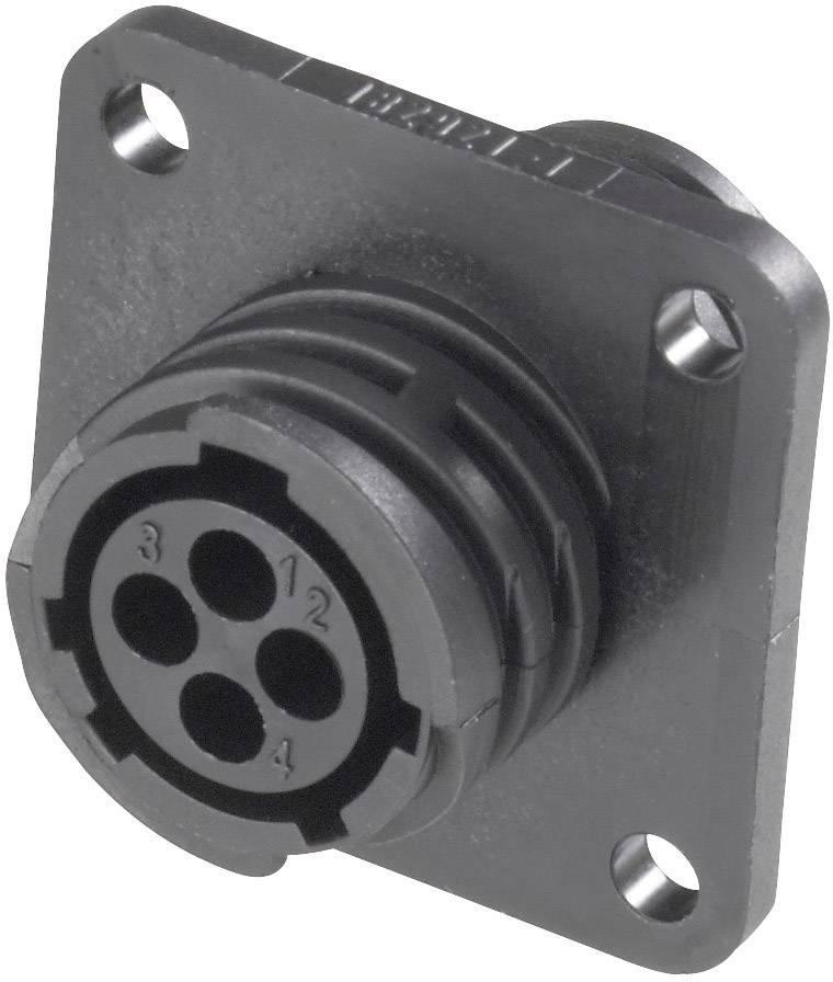 Guľatý faston TE Connectivity 182921-1 termoplast UL94V-1, pólů 4, 1 ks